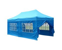 10' x 20' Deluxe Pop-Up Party Tent - Sky Blue