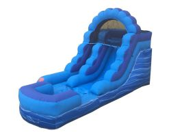 12' Inflatable Water Slide, Blue Marble