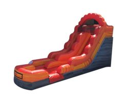 12' Inflatable Water Slide, Fire Red Marble