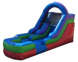 12' Inflatable Water Slide, Retro Rainbow
