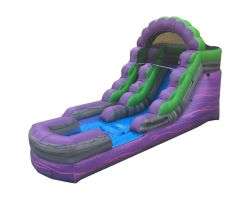 12' Inflatable Water Slide, Purple Marble