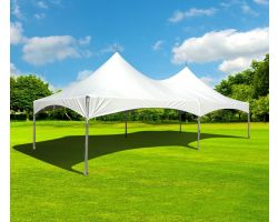 15' X 30' Commercial High Peak Tent - White