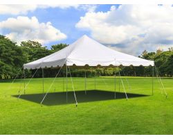 20' X 20' Commercial Steel Pole Tent - White