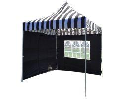 8' x 8' Basic Pop-Up Tent - Black and White Stripe