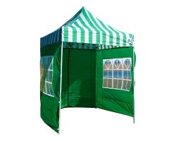 8' x 8' Basic Pop-Up Tent - Green and White Stripe