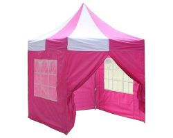 8' x 8' Basic Pop-Up Tent - Pink and White