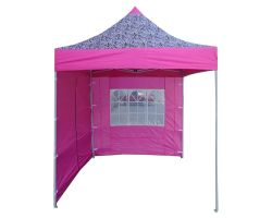 8' x 8' Basic Pop-Up Tent - Pink Zebra