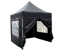 8' x 8' Basic Pop-Up Tent - Black