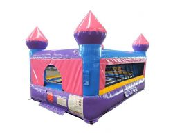 Kids Castle Inflatable Bounce House, Pink and Purple