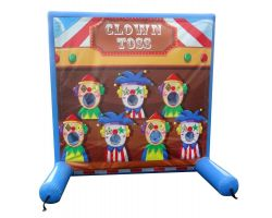 Sealed Air Inflatable Frame Game, Clown Toss