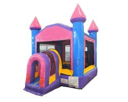 Compact Kids Castle Bounce House, Pink and Purple