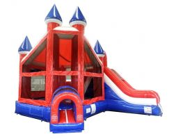 Deluxe Inflatable Bounce House with Slide, Patriotic