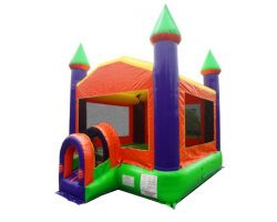 Inflatable Bounce House, Orange Castle