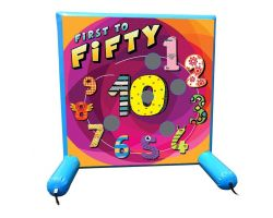 Sealed Air Inflatable Frame Game, First to 50