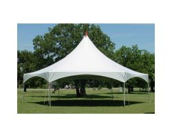 40' X 40' Hexagonal High Peak Commercial Frame Tent
