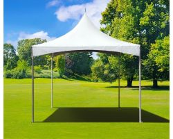 10' X 10' Commercial High Peak Tent - White