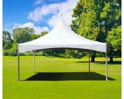 15' X 15' Commercial High Peak Tent - White