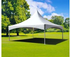 20' X 20' Commercial High Peak Tent - White