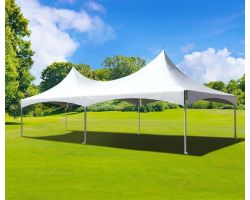 20' X 30' Commercial High Peak Tent - White