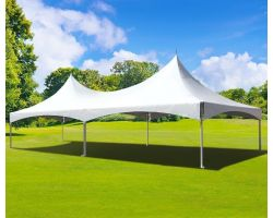 20' X 40' Commercial Twin Tube High Peak Tent - White