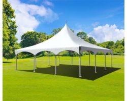 30' X 30' Commercial High Peak Tent - White
