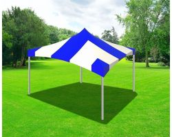 20' X 20' Commercial High Peak Tent - Blue Stripes