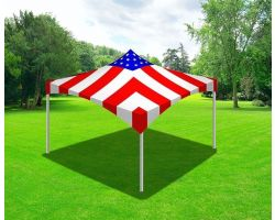 10' X 10' Commercial High Peak Tent - Stars and Stripes