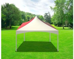 20' X 20' Commercial High Peak Tent - Red Solid