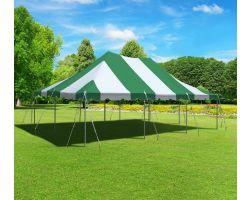 20' X 30' Commercial Aluminum Pole Tent - Green