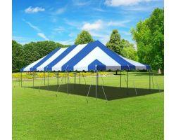 20' X 40' Commercial Aluminum Pole Tent - Blue