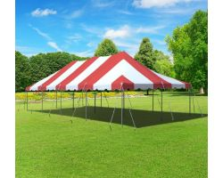 20' X 40' Commercial Aluminum Pole Tent - Red