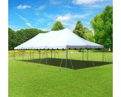 20' X 40' Commercial Aluminum Pole Tent - White