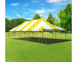 20' X 40' Commercial Aluminum Pole Tent - Yellow