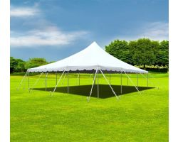 30' X 30' Commercial Aluminum Pole Tent - White
