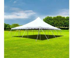 30' X 40' Commercial Aluminum Pole Tent - White