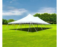 30' X 60' Commercial Aluminum Sectional Pole Tent - White