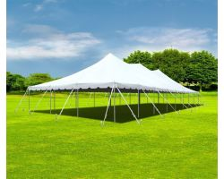 30' X 80' Aluminum Sectional Pole Tent - White