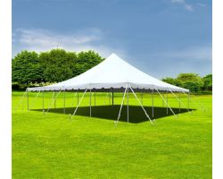 40' X 40' Aluminum Sectional Pole Tent - White
