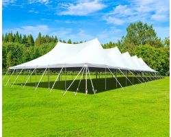 60' X 120' Commercial Aluminum Pole Tent - White