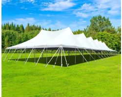 60' X 150' Commercial Aluminum Pole Tent - White