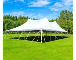 60' X 60' Commercial Aluminum Pole Tent - White