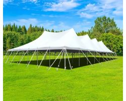 60' X 90' Commercial Aluminum Pole Tent - White