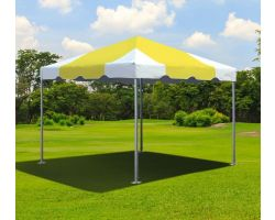 10' X 10' Commercial Aluminum Frame Tent - Yellow