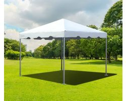 10' X 10' PVC Commercial Steel Frame Tent - White