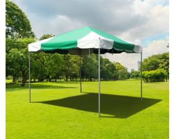 10' X 10' PVC Commercial Steel Frame Tent - Green