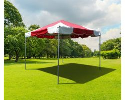 10' X 10' PVC Commercial Steel Frame Tent - Red