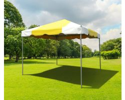 10' X 10' PVC Commercial Steel Frame Tent - Yellow