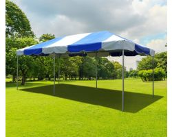 10' X 20' PVC Commercial Steel Frame Tent - Blue