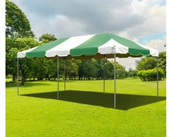 10' X 20' PVC Commercial Steel Frame Tent - Green