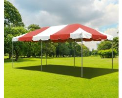 10' X 20' PVC Commercial Steel Frame Tent - Red